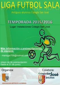 Cartel Liga Futbol Sala 2015/2016